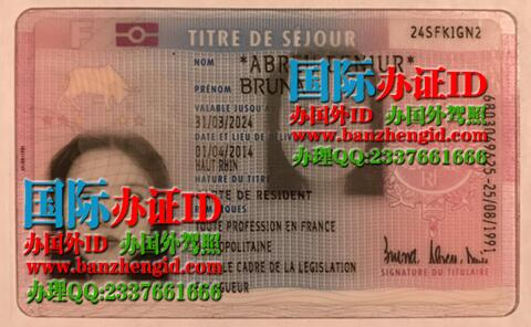 French residence card