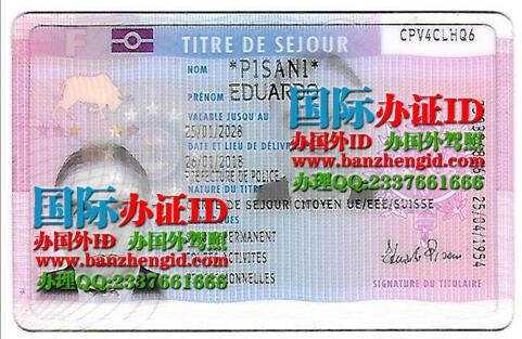 法国永久居住证French permanent residence permit