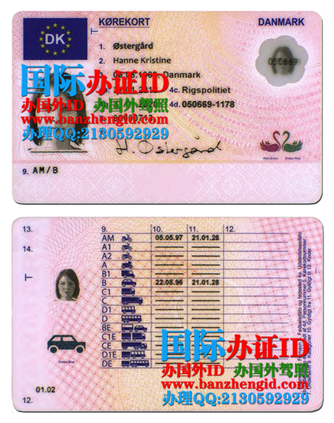 丹麦驾照,Danish driving license,Dansk kørekort