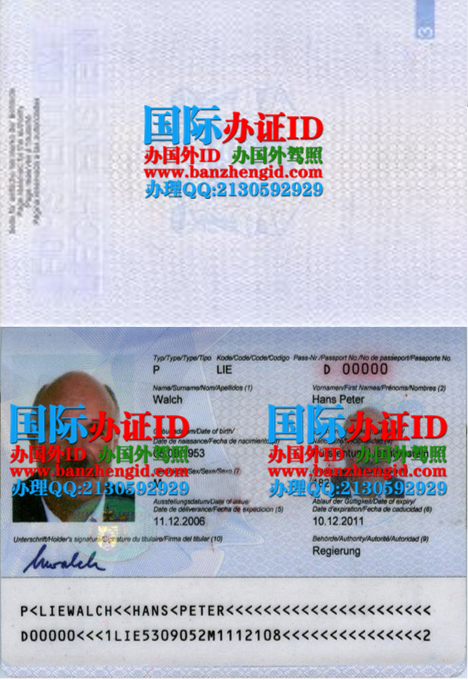 列支敦士登护照,Liechtenstein passport,Liechtensteiner Pass